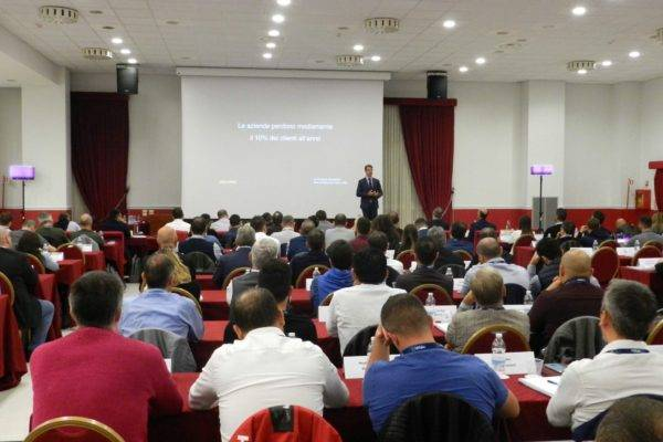 On stage at the Value Selling course in Barcelona
